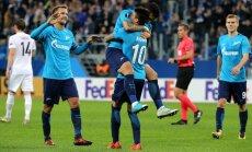 """ВИДЕО: """"Зенит"""" одержал третью победу в трех матчах группового этапа Лиги Европы"""