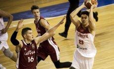 Latvijas U-20 izlases basketbolisti nonāk soļa attālumā no izkrišanas uz EČ B divīziju