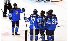 Somijas, ASV un Kanādas U-18 izlases rezultatīvās spēlēs izcīna uzvaras PČ elitē