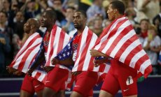 United States 4x100 m team Trell Kimmons, Justin Gatlin, Tyson Gay and Ryan Bailey