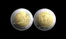 ФОТО: Банк Латвии выпустит в оборот новую монету номиналом два евро