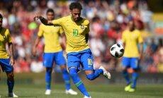 Neimars Brazīlijas izlasē atgriežas ar vārtu guvumu pārbaudes mačā pret Horvātiju