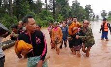 Laosā pēc dambja sabrukšanas vismaz 20 bojāgājušo un 100 pazudušo