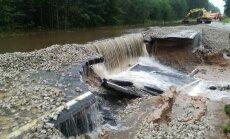 Plūdu skarto ceļu sakārtošanai Latgalē nepieciešams miljons eiro