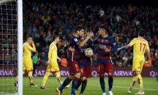 Spānijas futbola čempionāta līderu trio izcīna uzvaras un turpina cīņu par titulu