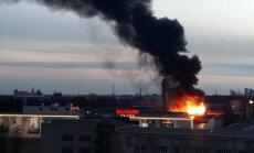 Likvidēts paaugstinātas bīstamības ugunsgrēks pie 'Elkor Plaza'