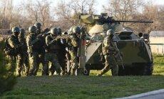 Pie Ukrainas robežām ir 83 000 krievu karavīru; desanta operācijas ticamākas par pilna mēroga uzbrukumu