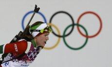 XXII Ziemas olimpisko spēļu biatlona rezultāti sievietēm 12,5 km masu starta distancē (17.02.2014.)
