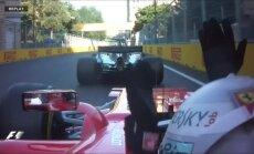 F-1 nesaskata pārkāpumus Hamiltona rīcībā Azerbaidžānas 'Grand Prix' laikā; Fetels saņem sodu
