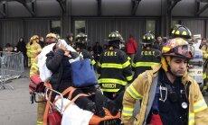 Vilciena avārijā Ņujorkā cietuši vairāk nekā 100 cilvēku