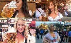 Dziļi dekoltē, kupli brunči un miestiņš: 'Oktoberfest' kārdinošās daiļavas