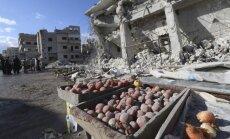 Uzlidojumā tirgus placim Arīhā vismaz 44 nogalinātie; aizdomas krīt uz Krieviju