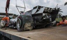 'Haas' F-1 komandai atļauj saremontēt treniņos sasisto Grožāna bolīdu