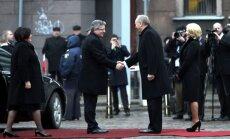 Fotoreportāža: Polijas prezidents Rīgā