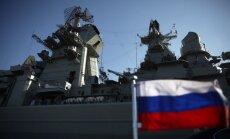 Krievija brīdina aviopārvadātājus par jūras spēku mācībām Vidusjūrā pie Sīrijas