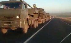 Video: No Rostovas pie Donas Ukrainas virzienā ved tankus