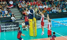 Volejbola izlases treneris: servēs bija daudz kļūdu, jāstrādā pie uzņemšanas