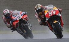 Doviciozo pēdējā aplī apsteidz Markesu un uzvar Japānas 'MotoGP' posmā