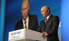 Putins pret Krieviju vērstās sankcijas nosauc par 'pilnīgu stulbumu'