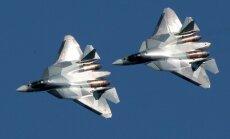 Sīrijā ieradušies Krievijas paši modernākie iznīcinātāji Su-57