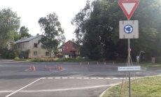 Čiekurkalnā demontēs patvaļīgi izveidotu apļveida krustojumu
