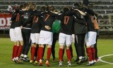 'Liepājas' futbolisti Porziņģa klātbūtnē pārliecinoši pieveic 'Riga' vienību