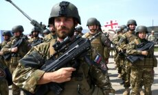Latvijas karavīri piedalās starptautiskās militārās mācībās Gruzijā