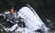 Kolumbijā lidmašīna ar futbolistiem avarēja degvielas trūkuma dēļ, apstiprina izmeklēšana