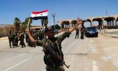 Karte: Sīrija slēdz opozīcijas apgādes un atkāpšanās ceļus uz Jordāniju