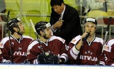 Latvijas hokeja izlase izbraukumā pārspēj Dānijas valstsvienību