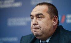 Uzspridzināts Luhanskas teroristu līdera auto