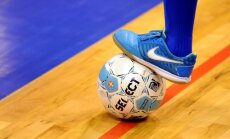 Latvijas futzāla izlase EČ kvalifikācijas pamatturnīru sāk ar zaudējumu spēcīgajai Krievijas komandai