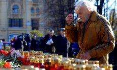 Maskavieši piemin boļševiku terora upurus