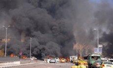 Netālu no Krievijas vēstniecības Damaskā nograndējis pamatīgs sprādziens; desmitiem bojāgājušo (17:30)