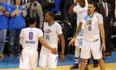 'Thunder' iekļūst otrajā kārtā un spēkosies ar 'Spurs'