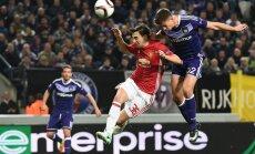 'United' izlaiž uzvaru pār 'Anderlecht'; 'Olympique' izrauj uzvaru pār 'Bešiktaš'