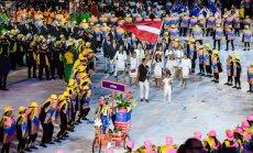 Foto: Latvijas olimpiskā delegācija Riodežaneiro atklāšanas ceremonijā