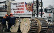 Separātistu reģionā nogādāts astotais humānās palīdzības konvojs no Krievijas