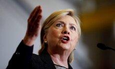 Klintone paziņo, ka Tramps būtu Putina 'marionete'