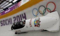 Melbārža četriniekam labākais laiks Olimpiādes pirmajā treniņbraucienā