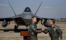 Signāls Phenjanai: ASV Dienvidkorejā izvieto ultramodernos F-22
