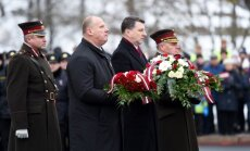 Vējonis: Latvija ir tik stipra, cik stipra ir mūsu katra vēlme to aizstāvēt