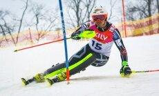 Latvijas kalnu slēpošanas kausa pirmajā dienā uzvar Kristaps Zvejnieks un Evelīna Gasūna