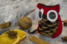 Svētku rotājumu un dāvanu darbnīca no dabīgiem materiāliem pavisam mazajiem