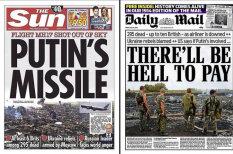 Катастрофа рейса MH17: обложки утренних газет