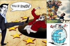 """Греки """"послали"""" кредиторов: 9 главных карикатур на тему исторического референдума"""