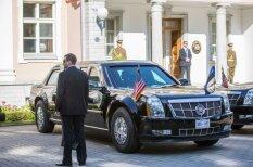 Obamas limuzīns aprīkots ar gāzes lielgabaliem un rezerves asinīm