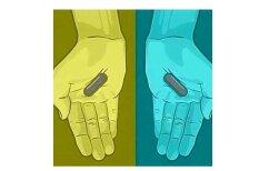 ОПРОС: Две серые или красная + синяя? Интернет сходит с ума из-за цвета этих таблеток