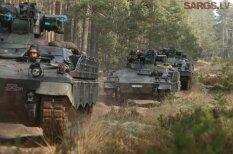 """Немецкие танки снова в латвийских лесах — в Адажи прибыли БМП """"Мардер"""""""