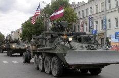 По улицам Даугавпилса тяжелой поступью прошли 200 единиц техники армии США
